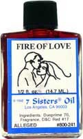 FIRE OF LOVE 7 Sisters Oil